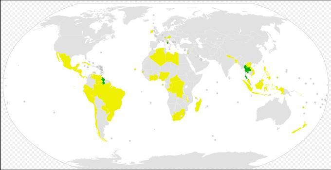 Kartet viser hvilke av verdens land som har signert og ratifisert forbudsavtalen mot atomvåpen.