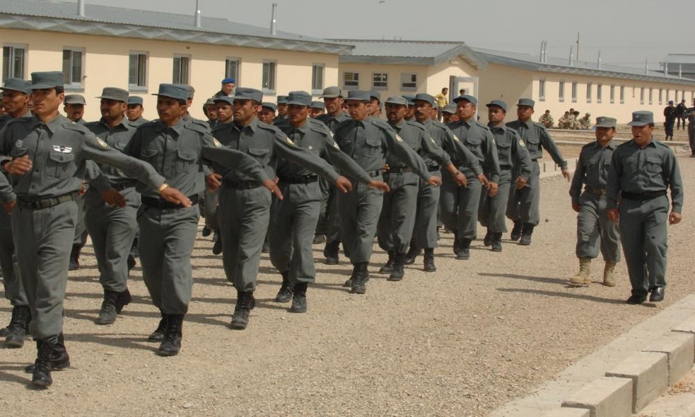 Bildet viser afghansk politi.