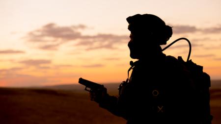 Bildet viser en soldat fra en israelsk antiterrorøvelse