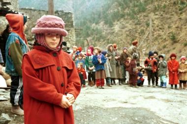 Tsjetsjenske flyktninger på grensen til Georgia