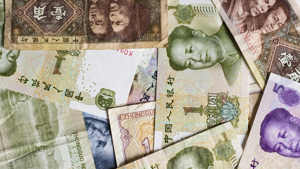 The picture shows chinese yuan