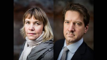 Bildet viser seniorforskerne Nina Græger og Halvard Leira
