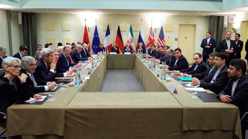 Bildet viser forhandlinger om Irans atomprogram