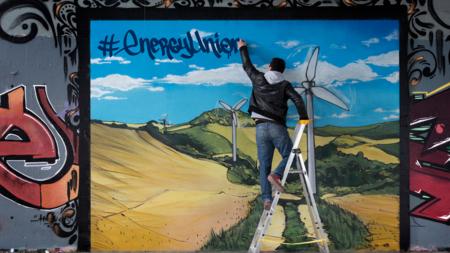 Bildet viser grafittikunst