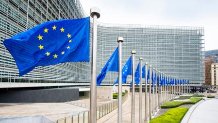 Bildet viser EU-flagg