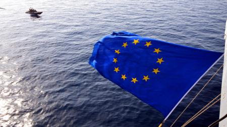 Bildet viser EUs flagg