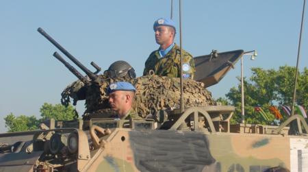 Bildet viser FN-soldater i Øst-Timor.