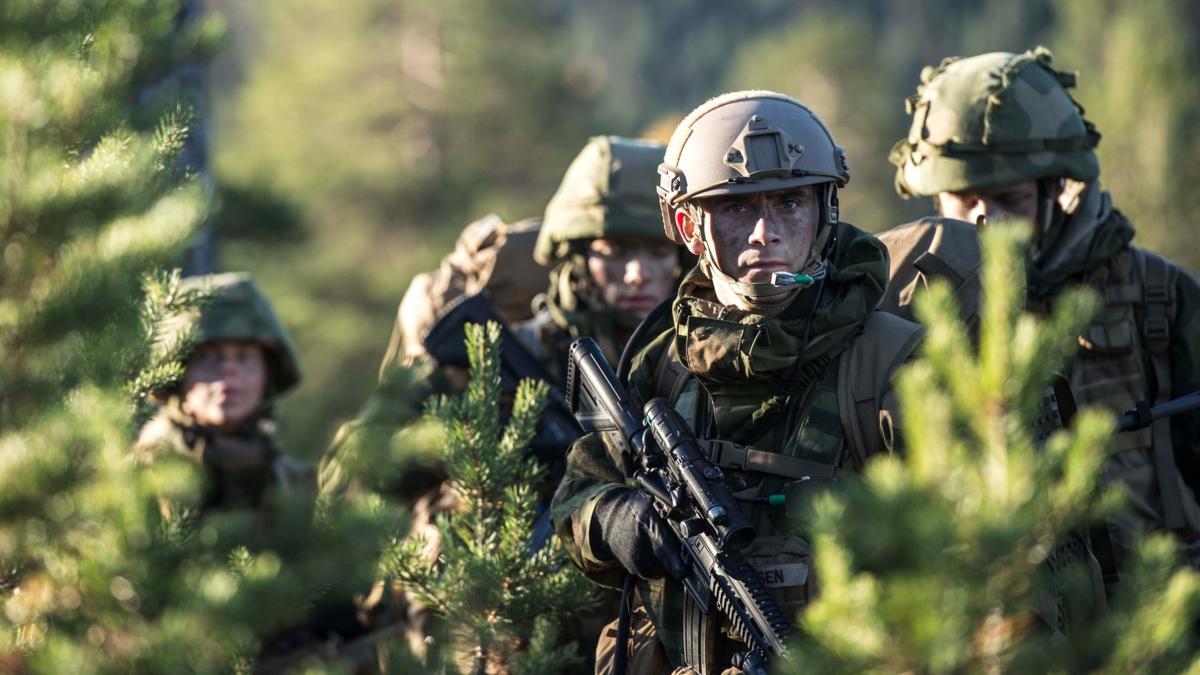 Bildet viser norske soldater