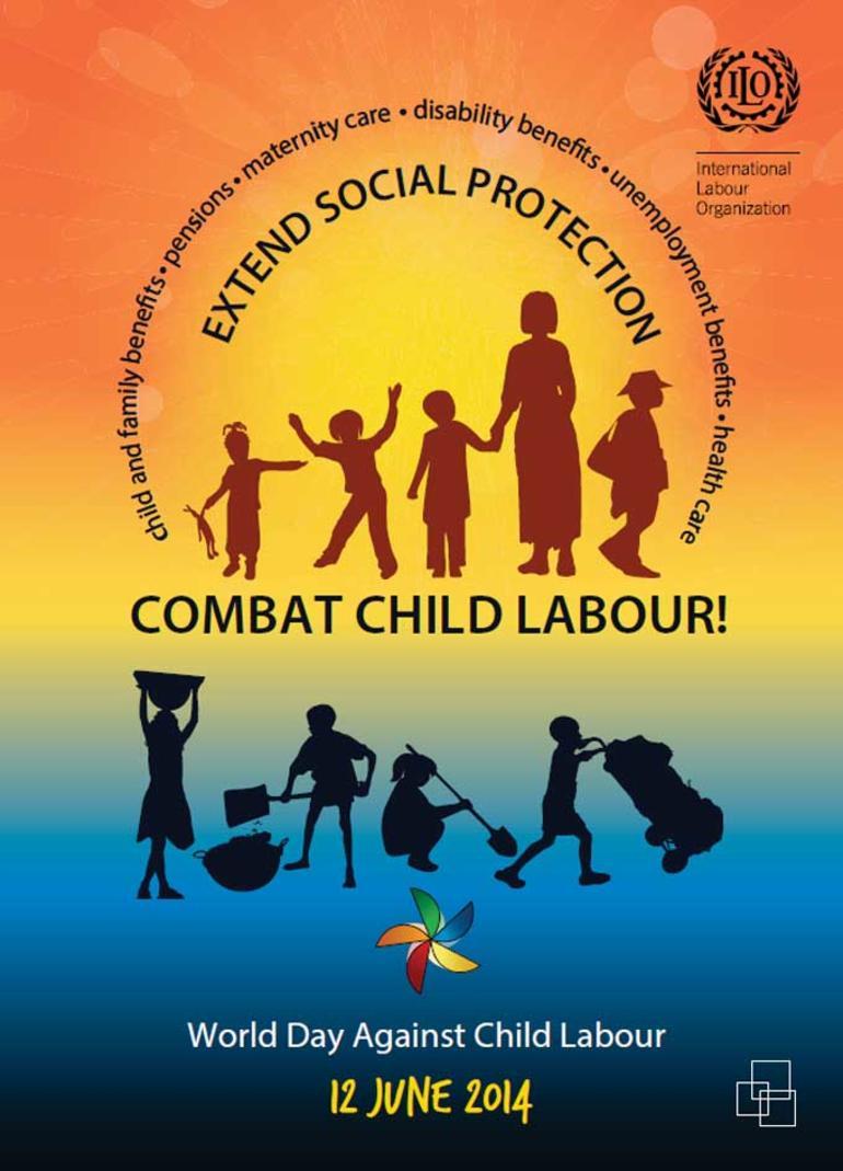 ILO-plakat markerer Verdensdagen mot barnearbeid, 12.juni