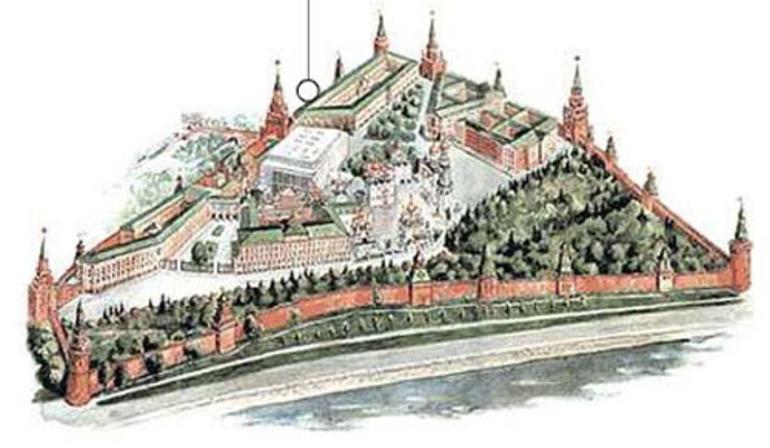 Tegning av Kreml