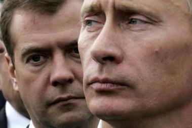 Bilde av Putin og Medvedev