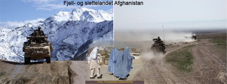 bilde av fjell og slette i Afghanistan