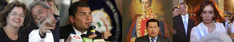 Bilde av noen presidenter i Latin-Amerika