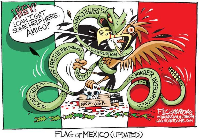 En annen variant av det Mexicanske flagget