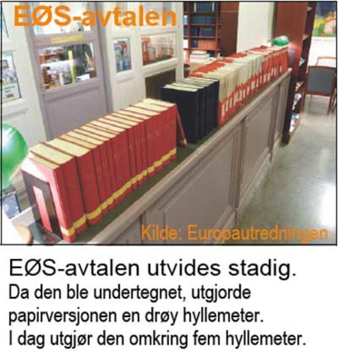 Bilde av  Norges samlede avtaleverk med EU - flere hyllemeter langt