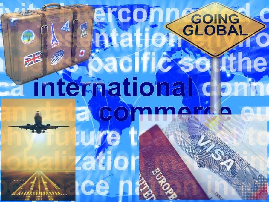 Ulike stiliserte bilder av den globalt reisende