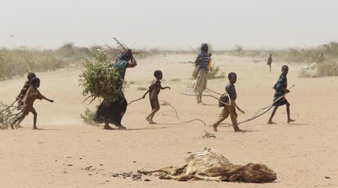 Bilde av klimaflyktninger i Sahel.