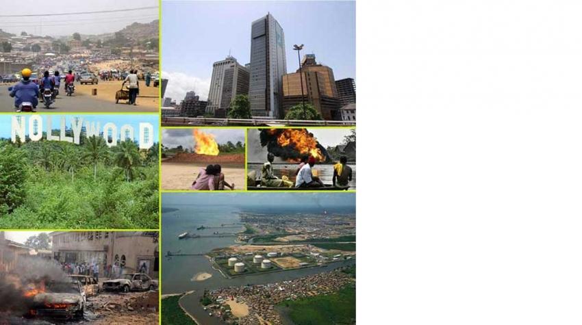 Ein kollasje av bilde frå Nigeria