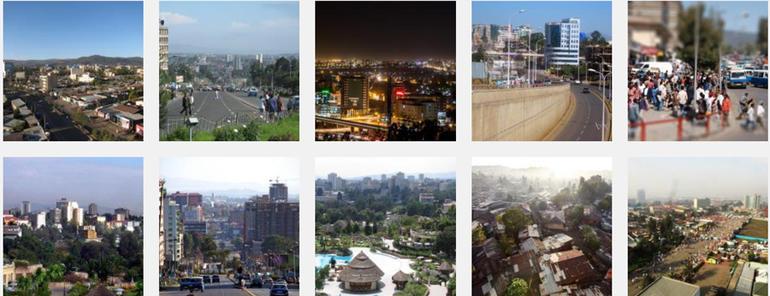 Bilder fra hovedstaden Addis-Abeba