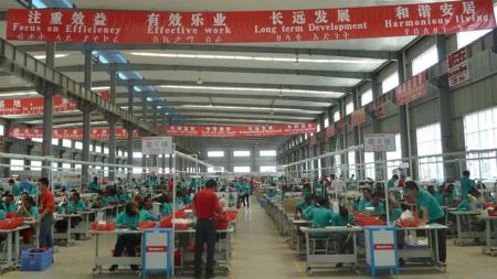 Bilde fra en kinesiskeid skofabrikk i Etiopia