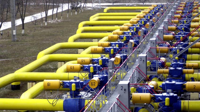 Bilde av gassrøyrleidningar i Ukraina