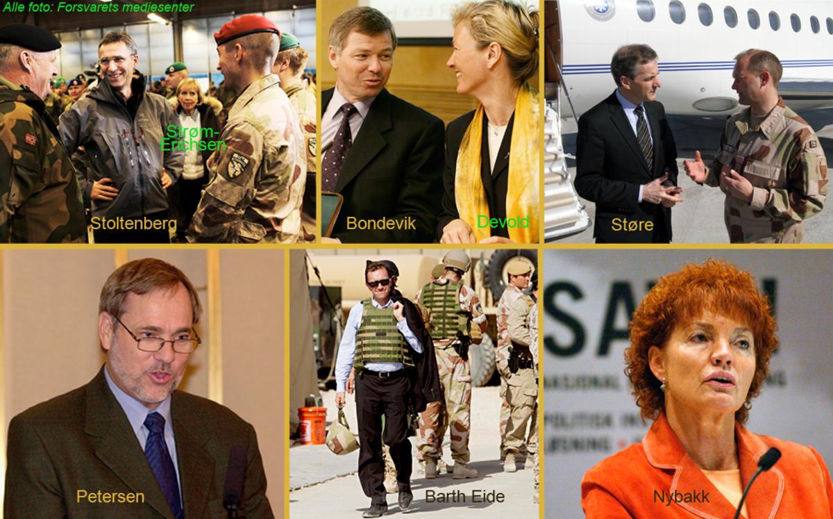 Bilder av norske myndighetspersoner