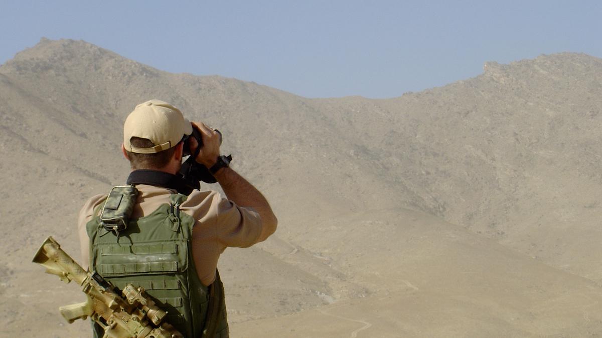Bilde av norsk soldat i Afghanistan.
