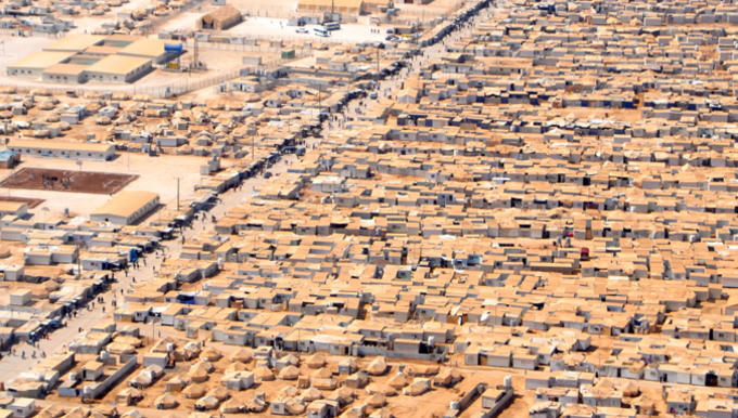 Bilde av Zaatari-leiren i Jordan