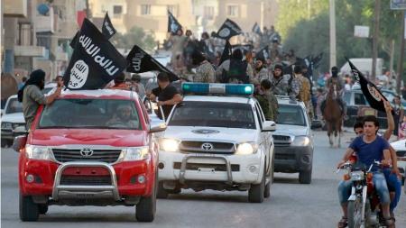 Bilde av ISIL-inntog i Raqqa, Syria