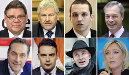 Bilder av sentrale EU-skeptikere