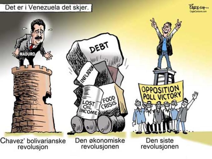 Strektegning om Venezuela