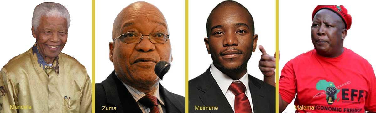 Bilde av ledende sørafrikanske politikere