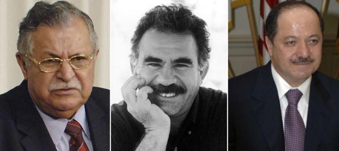 bilder av kurdiske ledere