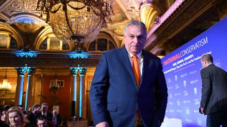 Bildet viser Ungarns statsminister Viktor Orban