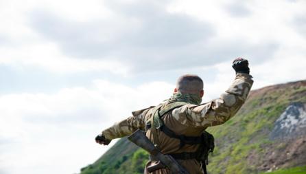Bildet viser en fremmedkriger i Ukraina