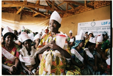 Bildet viser kvinnedagen i Kongo