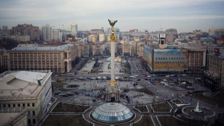 Majdan-plassen i Ukraina.
