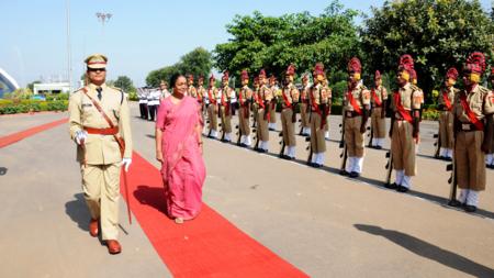 Bildet viser Indias parlamentspresident i Lok Sahba, Meira Kumar