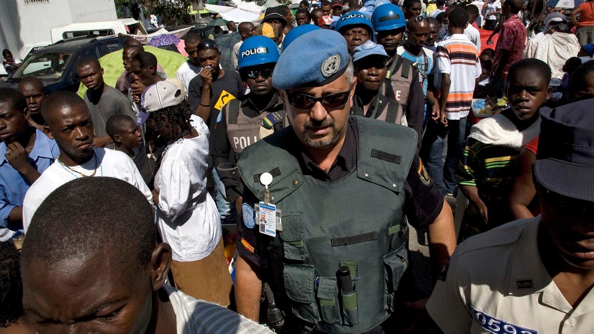 Bildet viser FN-politi på Haiti