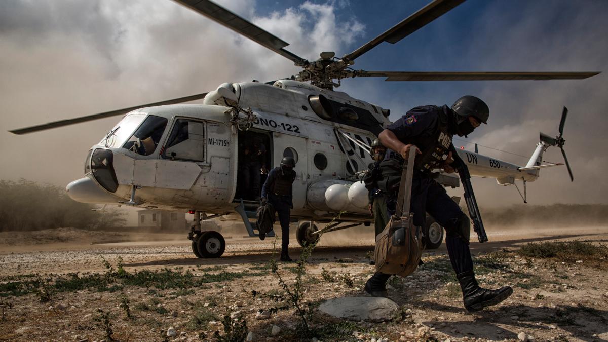 Bildet viser FN-styrker på Haiti