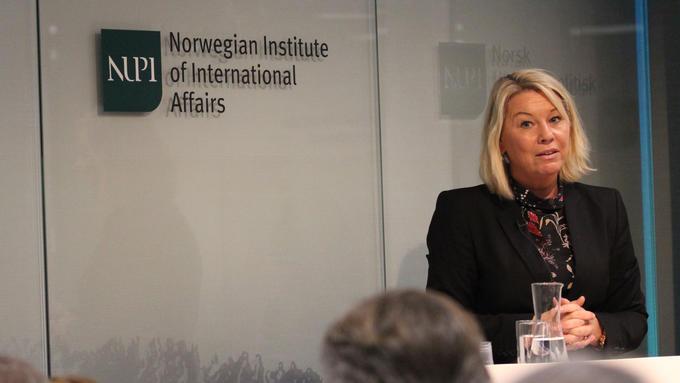 Bildet viser næringsminister Monica Mæland