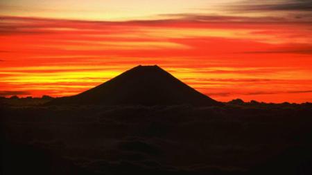Bildet viser Mount Fuji i Japan