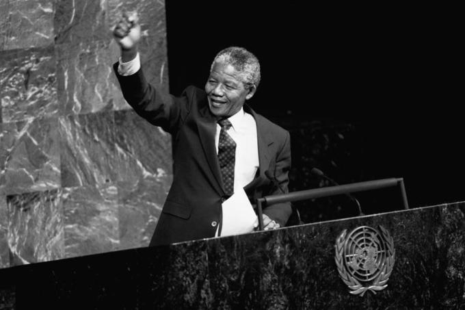Bildet viser tidligere president i Sør-Afrika Nelson Mandela