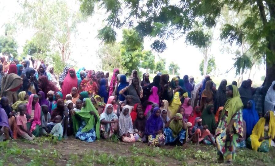 Bildet viser flyktninger fra Nigeria.
