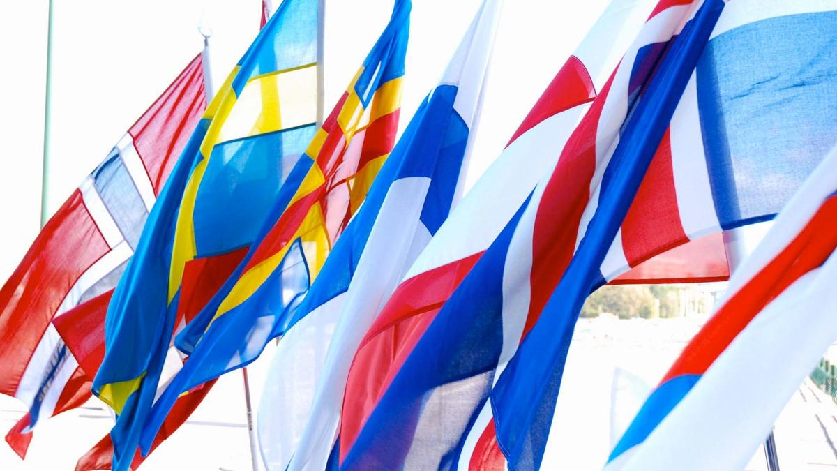 Bildet viser nordiske flagg