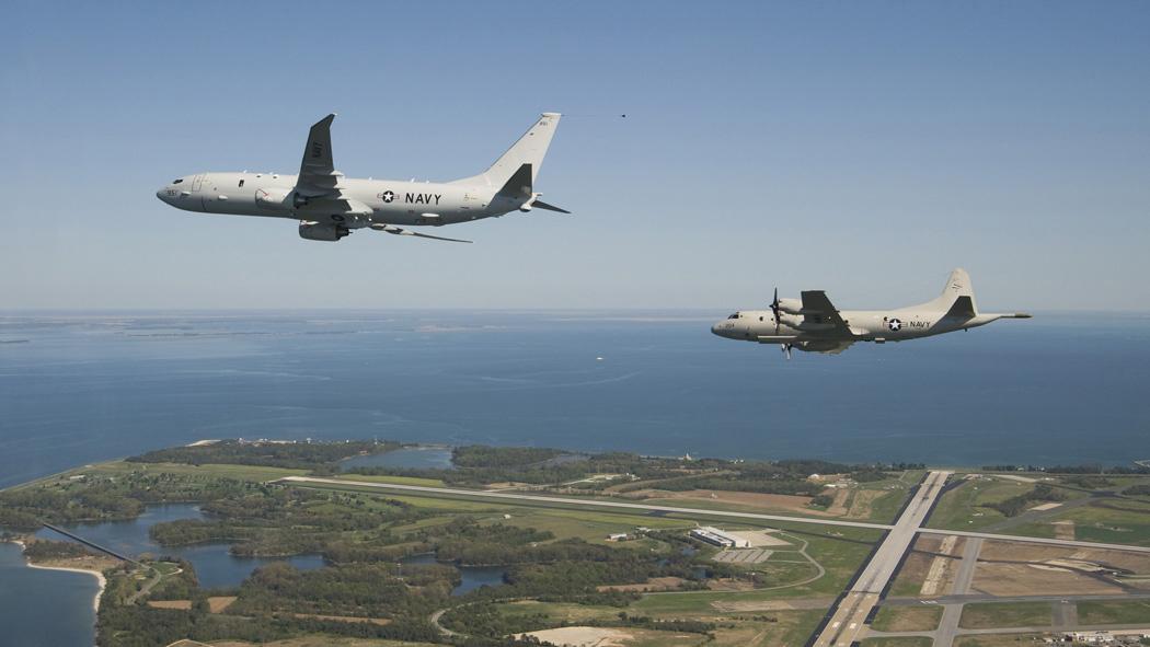 Bildet viser amerikanske militærfly.