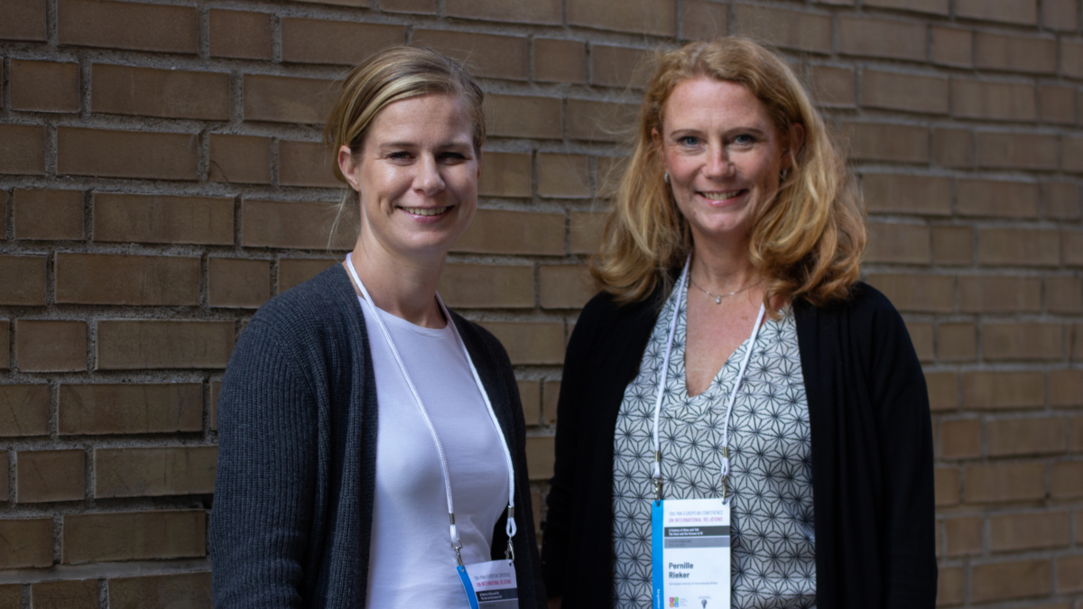 The image shows Research Professor Pernille Rieker (right) and Senior Research Fellow Kristin Haugevik (left) from NUPI.