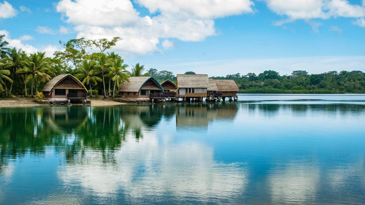 The image shows Port Vila, capital of Vanuatu