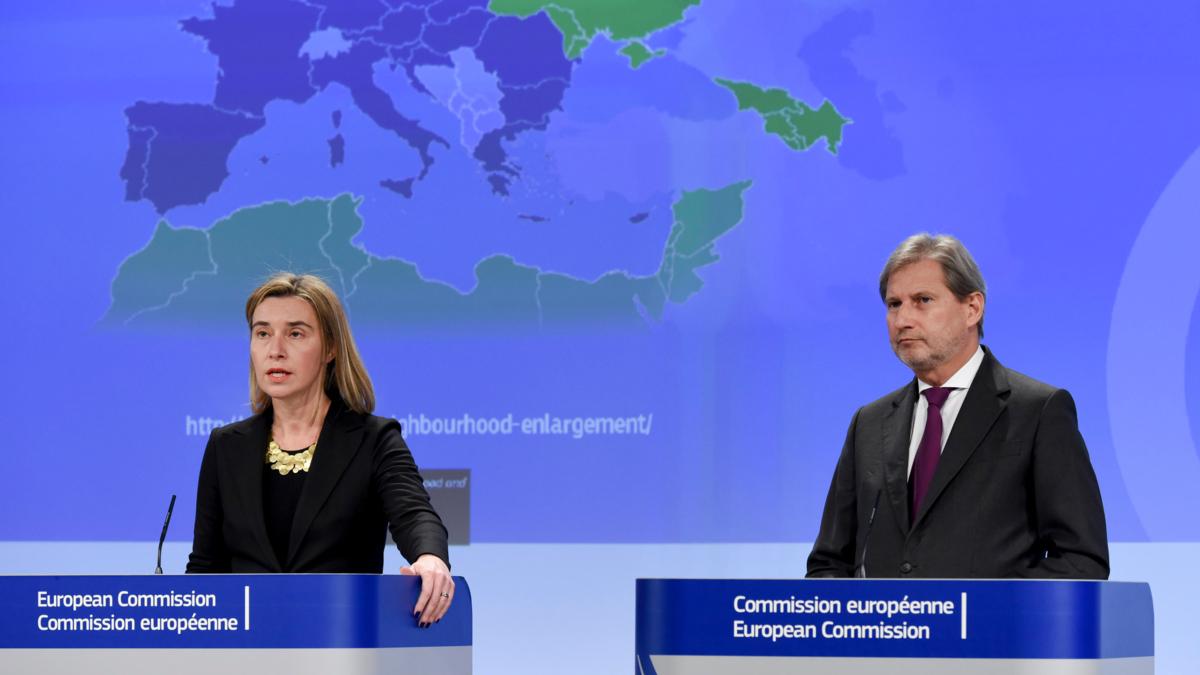 Bildet viser en lansering for konsultasjon om fremtiden til ENP