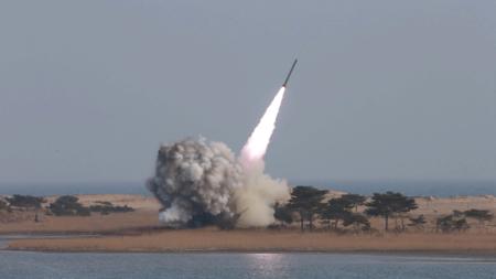 Bildet viser en rakettutskyting